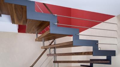 Escalier en bois-metal