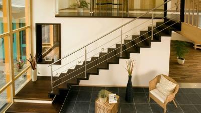 Escaliers en bois avec contre-machres