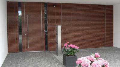 Portes d'entrées en bois-alu