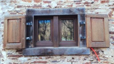 Réalisation de fenêtres en bois-cuivre